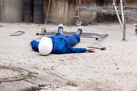 Photo pour Workplace accident. - image libre de droit