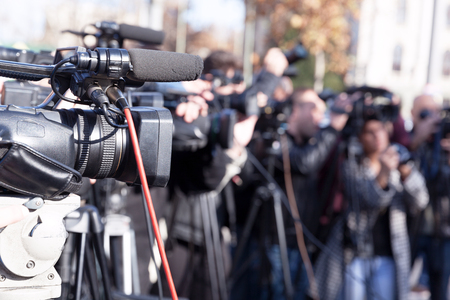 Photo for Filming media event with a video camera - Royalty Free Image