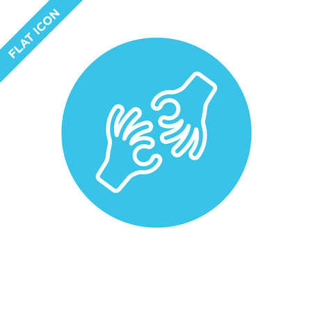 Illustration pour sign language icon vector from accessibility collection. Thin line sign language outline icon vector  illustration. Linear symbol for use on web and mobile apps, logo, print media. - image libre de droit