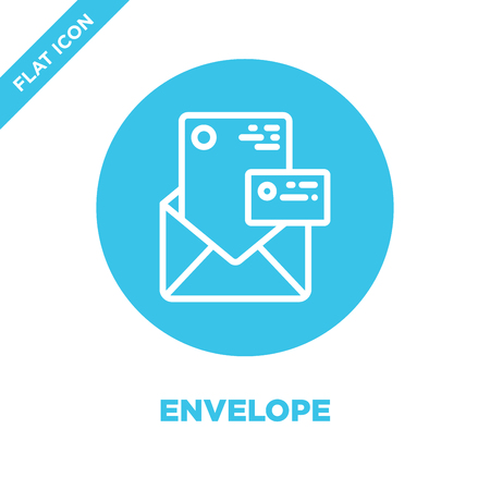 envelope icon vector from stationery collection. Thin line envelope outline icon vector  illustration. Linear symbol for use on web and mobile apps, logo, print media.