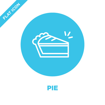 pie icon vector from seasons collection. Thin line pie outline icon vector  illustration. Linear symbol for use on web and mobile apps, logo, print media.