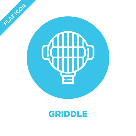 griddle icon vector from bbq and grill collection. Thin line griddle outline icon vector  illustration. Linear symbol for use on web and mobile apps, logo, print media.