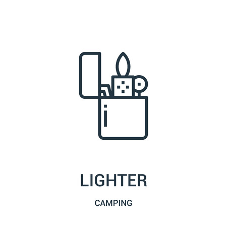 lighter icon vector from camping collection. Thin line lighter outline icon vector illustration. Linear symbol for use on web and mobile apps, logo, print media.