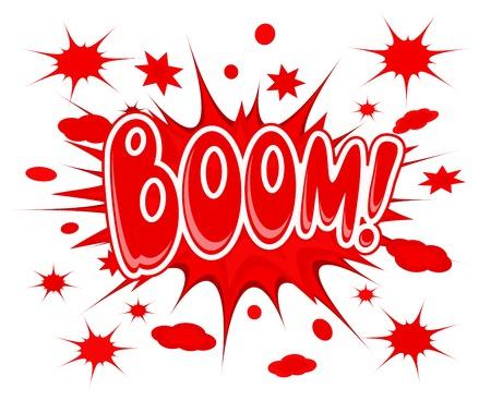 Boom explosion icon vector illustration