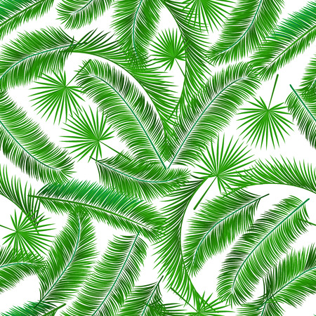 Tropical palm tree seamless pattern template vector illustration