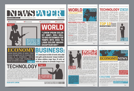 Newspaper online template design