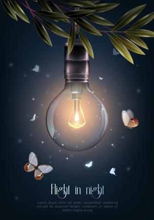 Ilustración de Glowing light bulb icon. - Imagen libre de derechos