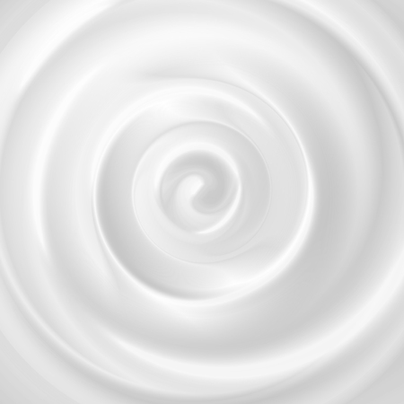 Illustration pour Cosmetic cream background with realistic image of heavy textured pure white creamy swirl with shadows vector illustration. - image libre de droit