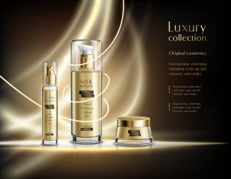 Ilustración de Luxury cosmetics realistic advertisement poster - Imagen libre de derechos