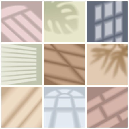 Illustration pour Window light and shadow bright realistic set isolated vector illustration - image libre de droit
