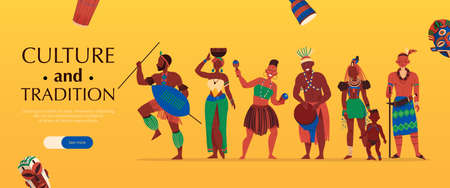 African Culture Tradition Banner