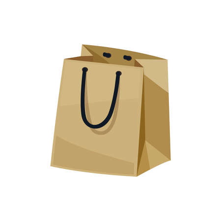 Illustration for Empty Paper Bag Composition - Royalty Free Image