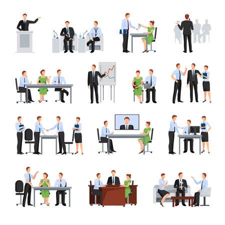 Illustration pour Business Conference  Elements Collection. Business Conference Vector Illustration. Business Conference Decorative Set.  Business Conference Concept Set.Business Conference Flat Isolated Set. - image libre de droit
