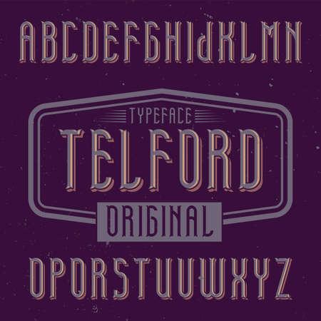 Foto für Vintage label font named Telford. Good to use in any creative labels. - Lizenzfreies Bild