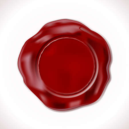 Illustration pour Perfect Wax Seal Isolated on white. Vector Illustration. EPS10 opacity - image libre de droit