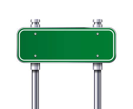 Illustration pour Blank Green traffic road sign vector illustration - image libre de droit