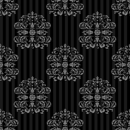 Illustration for Seamless Vector Royal background. Gray strips on Dark - Royalty Free Image