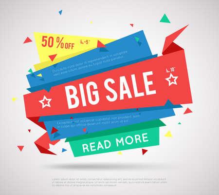 Illustration pour Big Sale Banner. Modern sale label, super sale or special offer sale banner. - image libre de droit