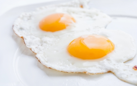 Double fried egg