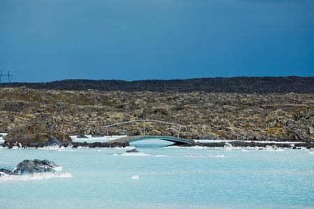The famous blue lagoon geothermal bath near Reykjavik, Iceland