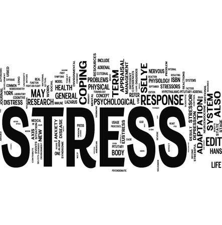 Stress related words collage
