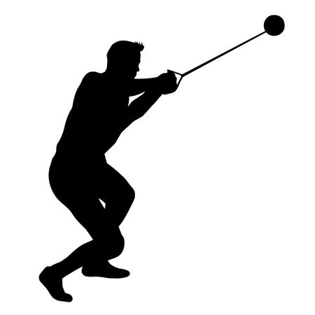 Illustration - hammer thrower in the competition