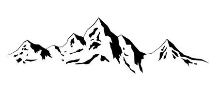 Illustration Winter mountains