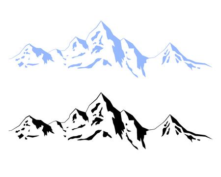 Illustration – Winter mountains