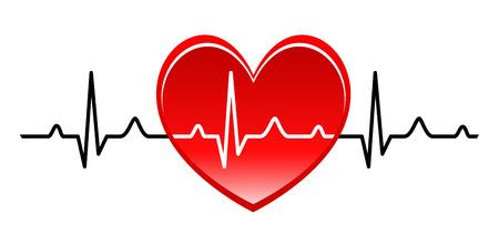 Illustration - Abstract heart beats cardiogram