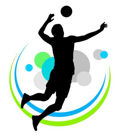 Illustration of volleyball sport vector