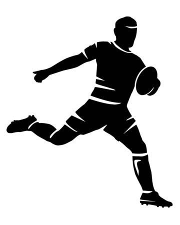 Illustration pour Rugby sport vector silhouette - image libre de droit
