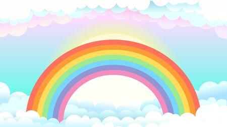 Ilustración de Rainbow in clouds - Imagen libre de derechos