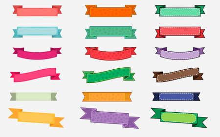 Illustration pour Colorful Ribbon Design Set - image libre de droit