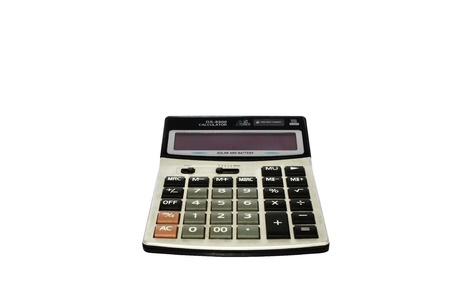 old calculator isolated