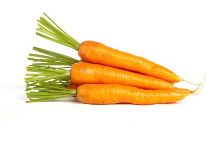 Pile of Carrots on a White Isolated Background