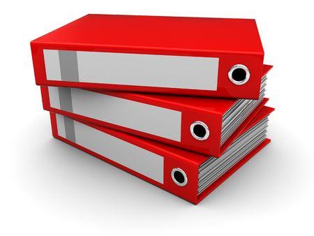 3d illustration of folders