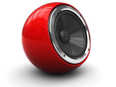 3d illustration of modern audio speaker over white background