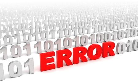 3d illustration of error in code consept