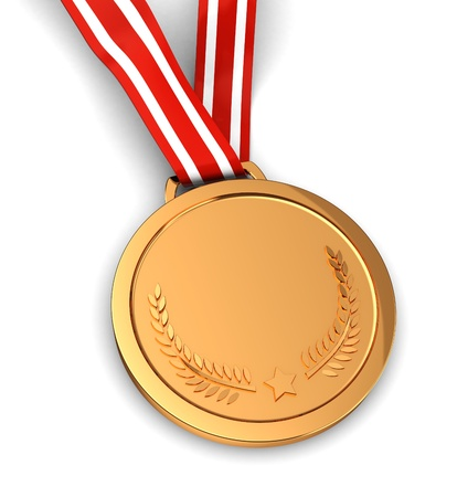 3d of golden medal -  winner sport champion