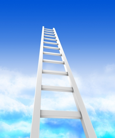 Stair ladders over sky, concept success