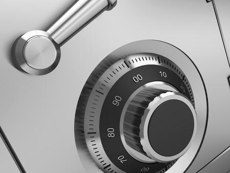 Photo pour 3d illustration of steel safe lock closeup - image libre de droit