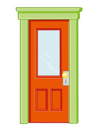 door isolated illustration on white background