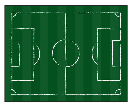 football court or field isolated illustration on white background