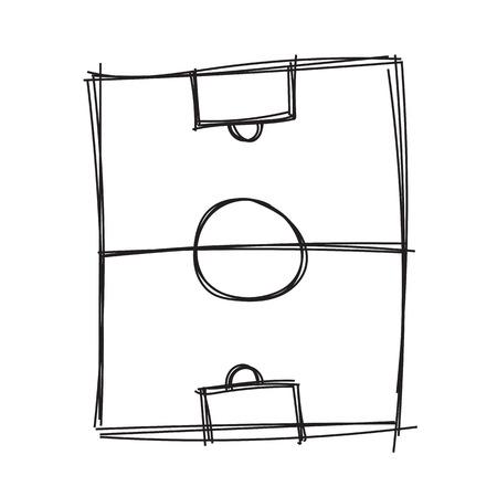Illustration pour Hand draw soccer field - image libre de droit