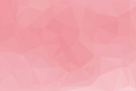 Illustration for pink polygonal Mosaic paper background. vector illustration - Royalty Free Image
