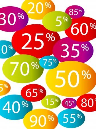 Multicolor discount background