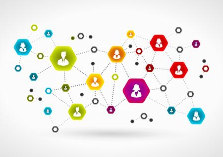 Illustration pour Business team network - image libre de droit