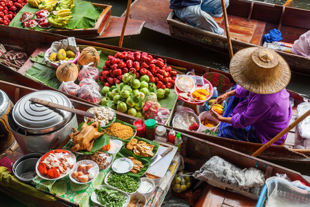 Photo for floating market Damnoen Saduak in Bangkok, Thailand - Royalty Free Image