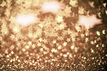 Photo for Festive Christmas background with stars. Abstract twinkled bright background with bokeh defocused lights - Royalty Free Image