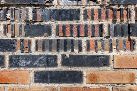 Background of old brick wall pattern texture
